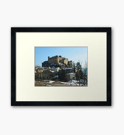 BARDI,. LA FORTEZZA SULLA ROCCA- FINE SECOLO IX(899)--italy----3300 visualiz.. 2015---featured in RB EXPLORE 18 marzo 2012 --- Framed Print