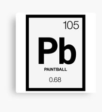 Periodic Paintball Canvas Print