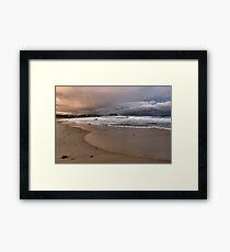 North to Bar Beach Framed Print