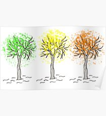 tree graphic Poster