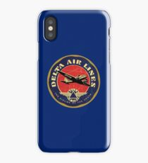 Vintage Delta Airlines USA iPhone Case/Skin