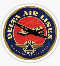 Vintage Delta Airlines USA Sticker