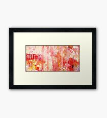 Weighing The Beauty & Imperfection Framed Print