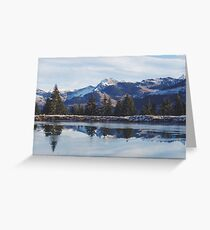 Sunrise in the Austrian Alps Greeting Card