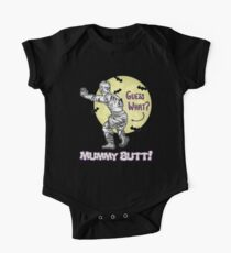 Funny Halloween Shirt for Kids Guess What? Mummy Butt!  Kids Clothes