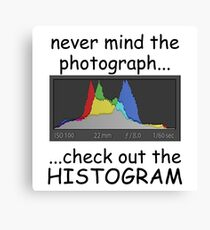Photograph or Histogram, which is better? Canvas Print