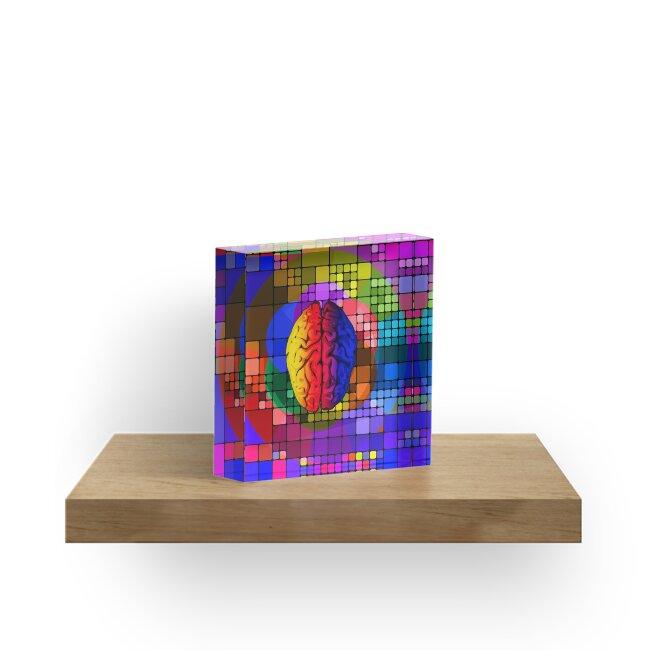The creative mind - Colorful Geometric Conceptual Art  by Denis Marsili