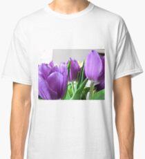 purple tulips Classic T-Shirt