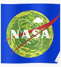 NASA - Rick and Morty Poster