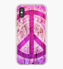 Peace Sign - Grunge Texture with Scratches iPhone Case