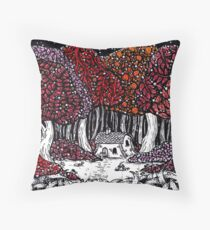 Dark Woods Throw Pillow