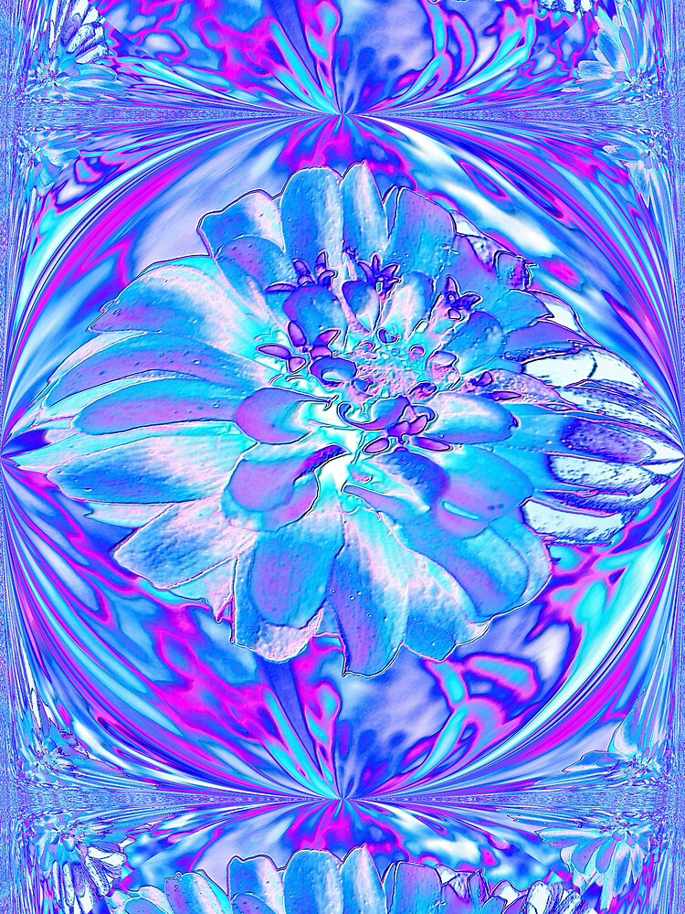 Blue Zinnia by roselee