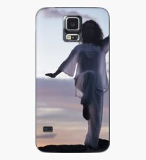 Woman practicing Tai Chi at sunset outdoorsa art print Case/Skin for Samsung Galaxy