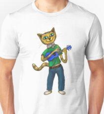 Cat On A Uke - ukulele-playing cat Unisex T-Shirt