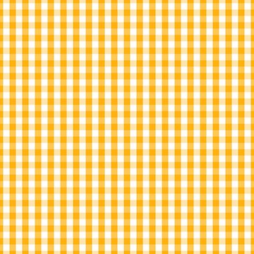 Pale Pumpkin Orange and White Halloween Gingham Check by Creepyhollow