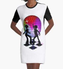 Retro Music DJ! Feel The Oldies! DANCE! Graphic T-Shirt Dress