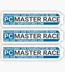 PCMR Blue Sticker Triple Pack Sticker