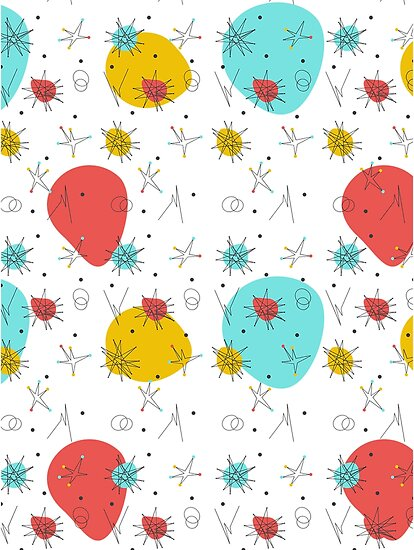 Prime Time Cafe Mid Century Modern Pattern By Fanfictious