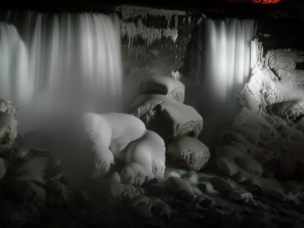Nightime at Niagara Falls Winter 2008 by phil777