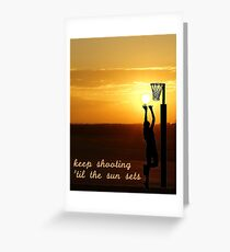 NETBALL SUNSET 1 Greeting Card