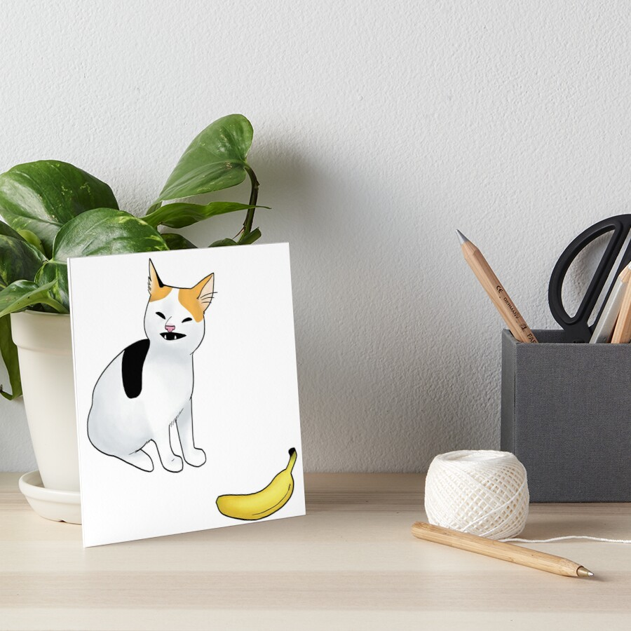 Katze keine Banane Galeriedruck