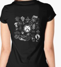Ocean Crew- White Ink Women's Fitted Scoop T-Shirt