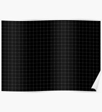 WHITE GRID PATTERN - SLIM STRIPES Poster