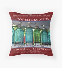 Root Beer Rooibos Throw Pillow