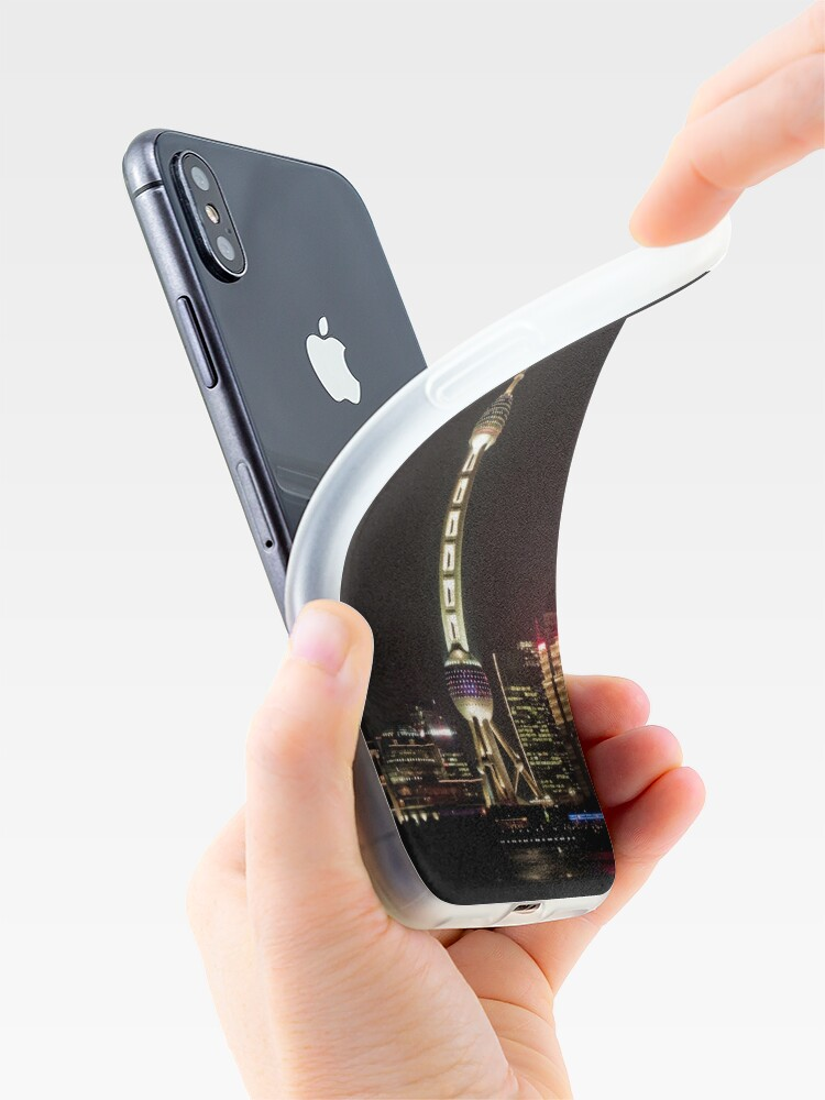 Alternate view of Oriental Pearl TV Tower. iPhone Case & Cover