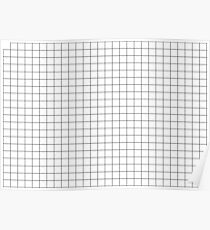 BLACK GRID PATTERN - THICK STRIPES Poster