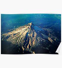 Flying above an Oregon Landscape Poster