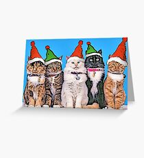 Jingle Cats Greeting Card