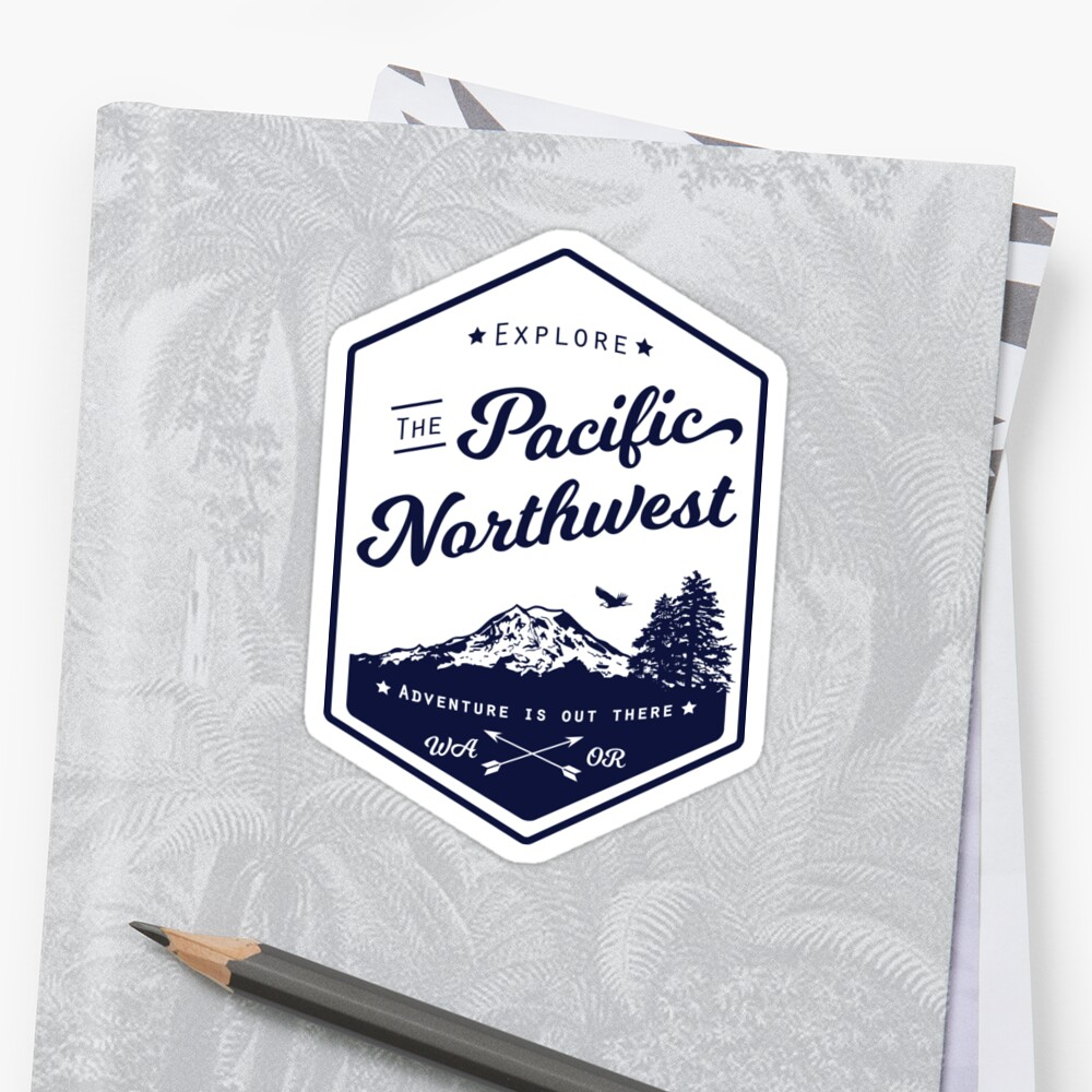 Explore the Pacific Northwest (outlined) Sticker