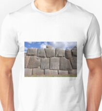 A Section Of The Wall At Saksaywaman, Peru Unisex T-Shirt