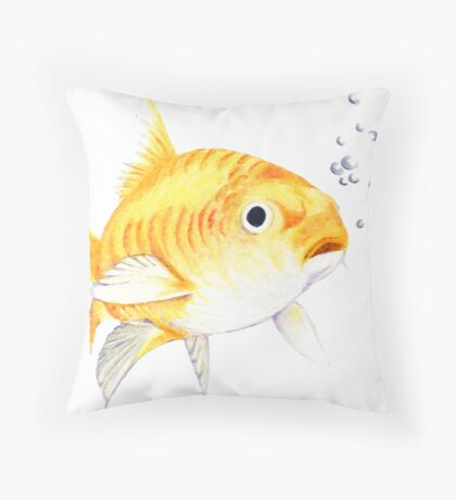 This little fishy Throw Pillow