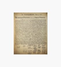 Vintage Declaration of Independence Art Board
