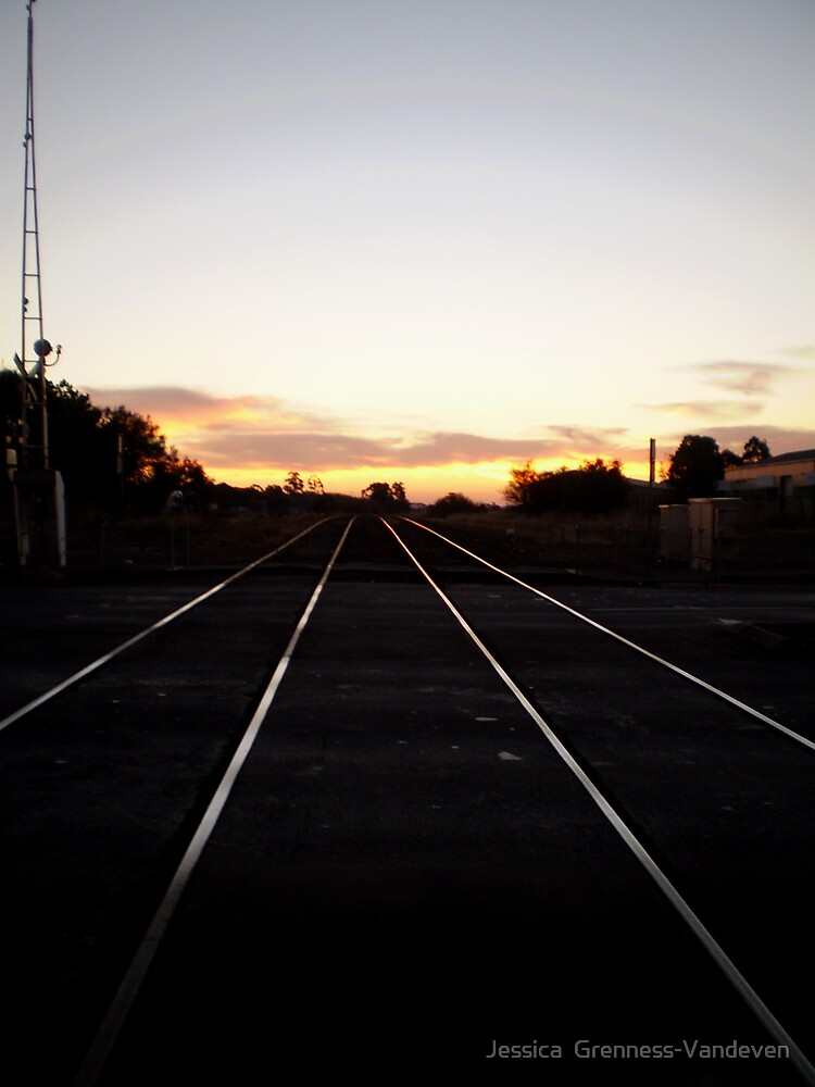 Down The Tracks. by Jessica  Grenness-Vandeven
