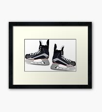 Hockey Skates Framed Print