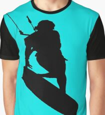A Kitesurfers Freestyle Silhouette Graphic T-Shirt