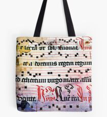 Choral Book Middle Ages - Music Vintage Tote Bag