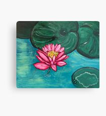 Pretty Water Lily Metal Print