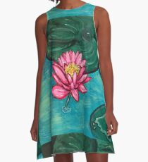 Pretty Water Lily A-Line Dress