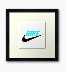 FIXED BIKE & NIKES Framed Print