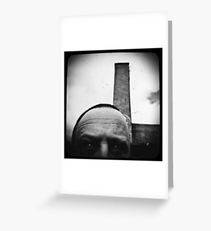 Self with a smoke stack. Greeting Card