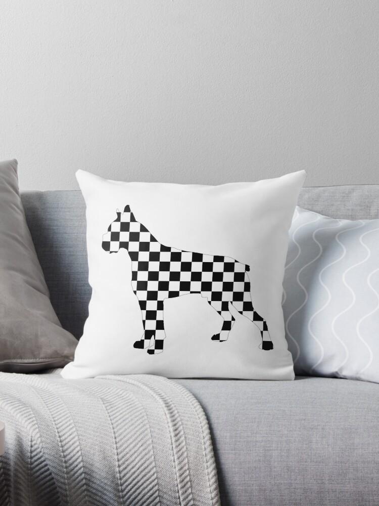 Racing Checkered Flag Cane Corso Mastiff Design Black And White