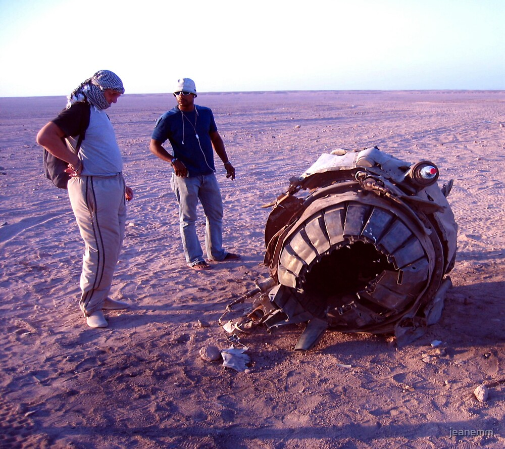 Jet Engine in the Desert   by jeanemm