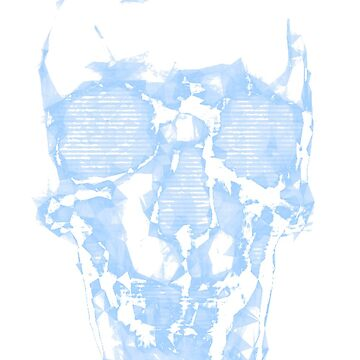 The Blue Skull by atelierwilfried