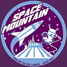SPACE MOUNTAIN (purple and blue) by clockworkmonkey