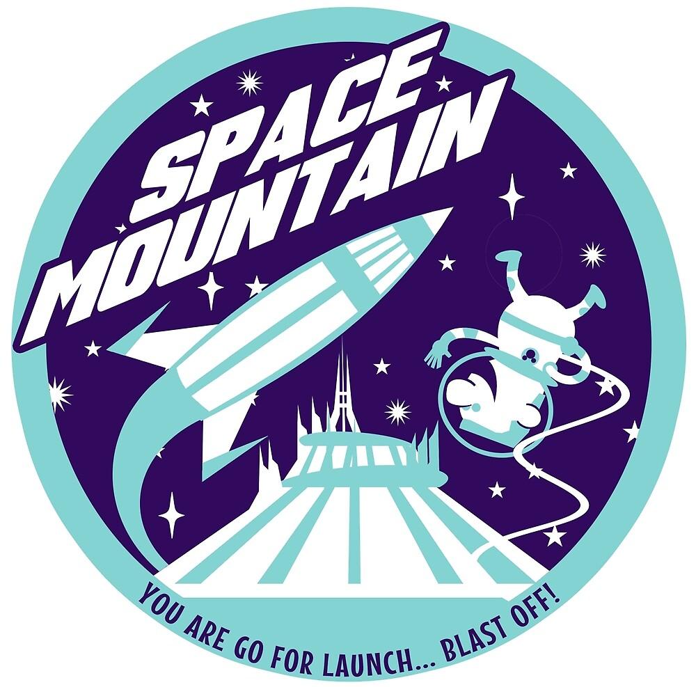 SPACE MOUNTAIN (blues) by clockworkmonkey