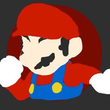 Minimalist Mario-Style Digital Drawing by cephasgarrett